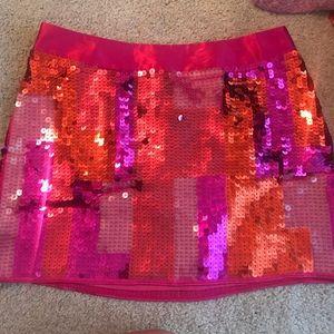 Express sequin pink skirt
